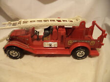 "Vintage NYLINT Classics Fire Department Ladder Truck~15"" Long~Metal/Plastic"