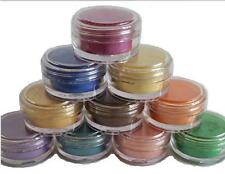 Mica Powder pearl Pigments 10 jar set cosmetic soap candle making glitter 5ml 2g
