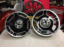 "00-08 Genuine Harley 18"" Front 16"" Rear Touring Dyna Softail Wheels OEM Chrome."