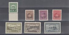 01-04 and 06 - 08 Cat$160 VF MNH Canada OHMS overprint mint