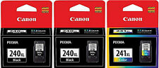 CANON PIXMA TWO 240XL & ONE 241XL OEM INK CARTRIDGES MG2120 MG2220 MG4220 MX512