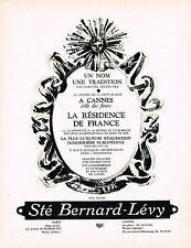 PUBLICITE ADVERTISING 054  1964  SOCIETE BERNARD LEVY   UN NOM ,UNE TRADITION