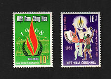 1968 RVN South Vietnam Set of 2 Stamp International Year of Human Rights