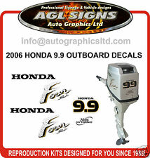 2006 HONDA 9.9 HP FOUR STROKE OUTBOARD DECAL KIT, 15 HP  REPRODUCTION