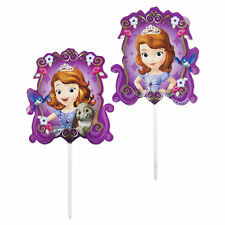 Wilton SOFIA THE FIRST BIRTHDAY PARTY FUN PICKS Disney Cake Party Theme PK OF 24