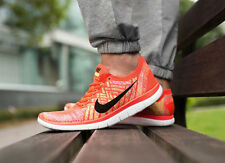 NIKE FREE 4.0 FLYKNIT Running Trainers Shoes Gym - UK Size 7.5 (EU 42) Crimson