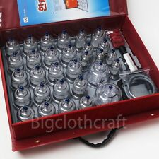 [Hansol] New Original 30PCS Cups Massage Professional Cupping Vacuum Therapy SET
