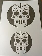 Mexican Scull Halloween Mylar Reusable Stencil Airbrush Painting Art Craft DIY