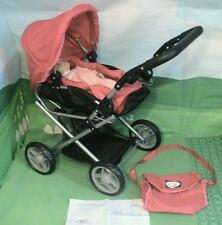 New York Doll Collection Lovely Stroller, Pram, Carriage for 15 inch Baby Dolls