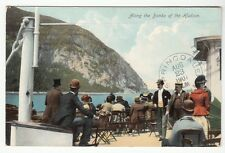 [53896] 1907 POSTCARD ON A BOAT ALONG THE BANKS OF THE HUDSON RIVER, NEW YORK