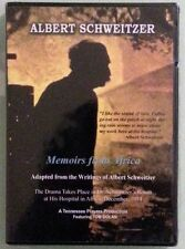 albert schweitzer  MEMOIRS FROM AFRICA   DVD NEW small shrinkwrap tears