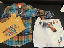 Gymboree TROPICAL BLOOM skort shirt shirts Surf Club Size 4 4t  70.00 lot outfit