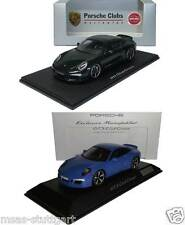 2 x Porsche 911 991 GTS Club Coupe green and blue Spark 1:43 brand new