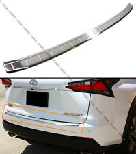 FOR:2015 LEXUS NX200t F SPORT BRUSHED STEEL REAR BUMPER TRIM PROTECTOR PAD COVER