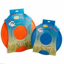 JOLLY PET FLYING FOLDABLE DOG FRISBEE RUBBER POOL FLOATING DISC NON TOXIC TOY