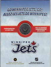 ** 2011 - 2012 Canada NHL Winnipeg Jets Half Dollar 50 Cent Coin Uncirculated **