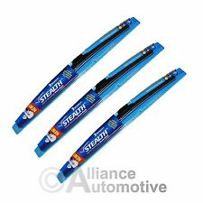 "3 New Michelin Stealth  Beam Wiper Blades 22"" 22"" 16"""