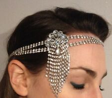 1920s Flapper Headband Gatsby Style Crystal Art Deco Bridal Wedding