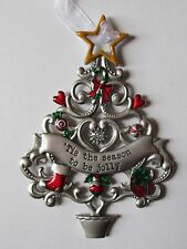 PD Tis the Season to be Jolly ORNAMENT Christmas Wishes Tree Ganz car charm