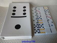 Domino set, coloured spots dominoes ,double six