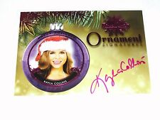 2015 Benchwarmer KAYLA COLLINS Holiday #61 Ornament Pink Autograph PLAYBOY Model