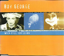 Culture Club BOY GEORGE When Will you learn 7 TRX REMIXES CD Single SEALED 1998