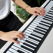Digital Electronic Piano 61 keys Keyboard Roll-up Piano with Built-in Speakers