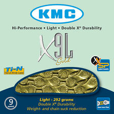 KMC X9L Gold Light 9 Speed Chain For Road & MTB Cycling