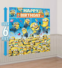 DESPICABLE ME photo backdrop BIRTHDAY party wall decor Scene Setter Gru's MINION