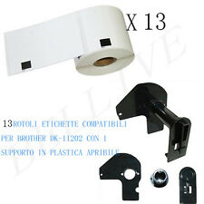 13 Etichette per Brother DK-11202 62mmX100mm QL-500A QL-550 QL-560 QL-570 QL-500