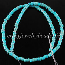"Howlite Turquoise 2x4mm Rondelle Loose Spacer Beads 15.5 "" G1498"