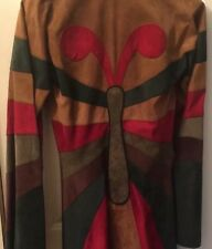 Dolce And Gabbana Fabulous Suede Butterfly Detail  Coat  Size 38  Rare Find