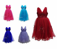 New Girls Wedding Flower Formal Bridesmaid Party Dress Size Age 6 months - 13
