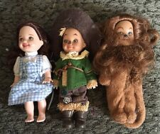 Wizard Of Oz Kelly Tommy Dolls Lot Dorothy Scarecrow Lion Barbies