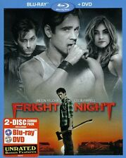 Fright Night [2 Discs] [Blu-ray/DVD] (2011, Blu-ray NEUF) BLU-RAY/WS