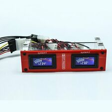 Dual Display Thermometer for PC CD-Rom Water Liquid Cooling SLI System LED Digit