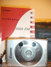 CANON IXUS Z50 QUARTZ DATE~PANORAMA APS FILM CAMERA~26-52MM LENS~AUTO FOCUS DD16