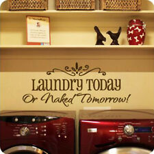 Laundry Removable Art Vinyl Quote Wall Sticker Decal Mural Home Room Decor qing
