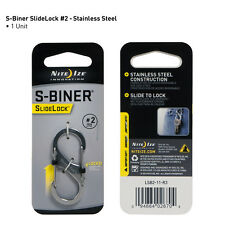 "Nite Ize S-Biner SILVER Stainless Steel with Slide Lock Size #2 (2""), Carabiner"