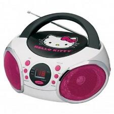 NEW*HELLO KITTY*Portable Stereo Boombox CD Player*with AM/FM RADIO*Girls Kids
