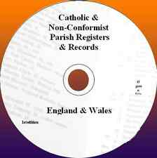 Catholic & Non-Conformist Parish Registers & genealogy records England & Wales