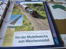 Meisterschule Modelleisenbahn 10 Umbau einer RocoWeiche in EW 190 14S