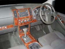 NISSAN NAVARA D40 PICK UP INTERIOR BURL WOOD DASH TRIM KIT SET 05 2006 2007 2008