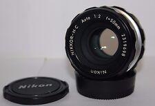 NIKON NIKKOR-H.C 50mm f2 pre AI estándar lente principal.