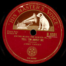 JIMMY YANCEY -Piano Solo-  Tell 'em about me / State Street Special  78rpm  X809