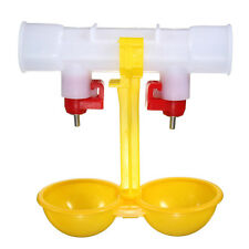 1pcs Automatic Poultry Feed Water Double Head Drinker Cup For Hennery Coop