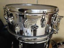 "CHROME OVER BRASS SLINGERLAND 2-1 SNARE DRUM 6.5X14"" RARE !"