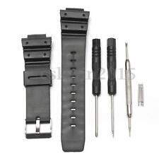 Cinturino Cinghia Compatibile Per Orologio G-Shock Gomma Watch Strap Nero