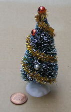 1:12 Scale Decorated Christmas Tree Dolls House Miniature Garden Accessory Small