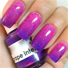 Polish Me Silly Thermal Grape Intentions Color Changing Thermal Glitter Polish